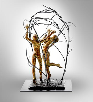 "Eden Here Now, Bronze, 18'h x 11""w   $2300"