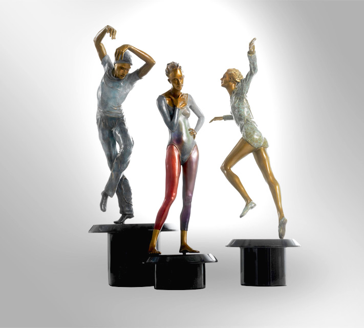 "Trio: Bronze Three piece set:  24"" x 18""w x 14""w $4400"